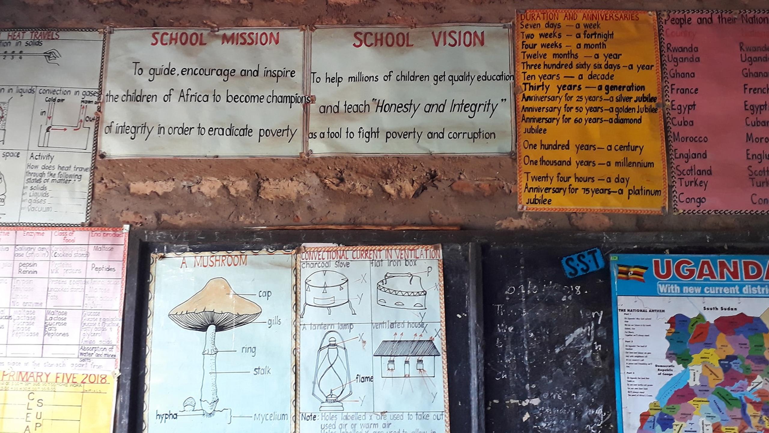 Besøk på skolen ved Ekvator